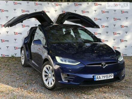 Синій Тесла Модель Х, об'ємом двигуна 0 л та пробігом 63 тис. км за 58900 $, фото 1 на Automoto.ua