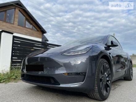 Сірий Тесла Model Y, об'ємом двигуна 0 л та пробігом 11 тис. км за 73500 $, фото 1 на Automoto.ua