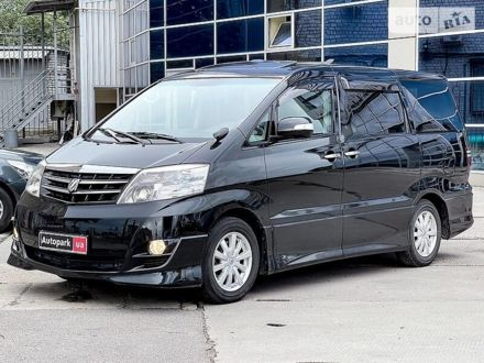 Черный Тойота Алфард, объемом двигателя 2.4 л и пробегом 141 тыс. км за 14990 $, фото 1 на Automoto.ua