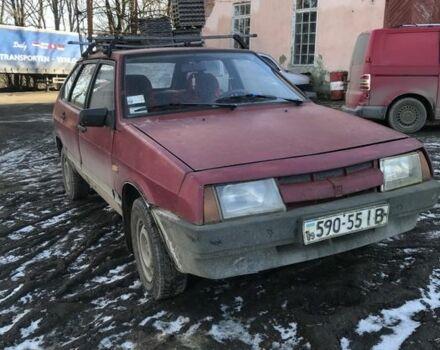 Красный ВАЗ 2109, объемом двигателя 1.3 л и пробегом 250 тыс. км за 1000 $, фото 1 на Automoto.ua