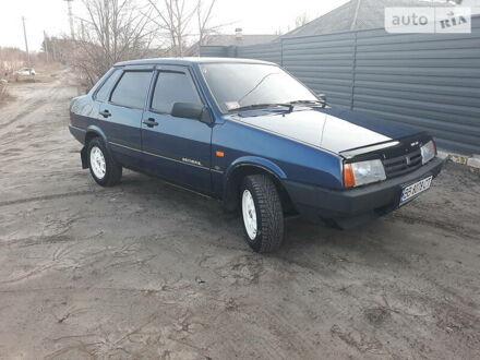 Синий ВАЗ 21099, объемом двигателя 1.5 л и пробегом 135 тыс. км за 2850 $, фото 1 на Automoto.ua