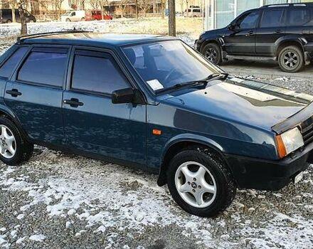Зеленый ВАЗ 21099, объемом двигателя 1.5 л и пробегом 77 тыс. км за 2800 $, фото 1 на Automoto.ua
