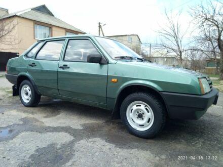 Зеленый ВАЗ 21099, объемом двигателя 1.5 л и пробегом 101 тыс. км за 3400 $, фото 1 на Automoto.ua