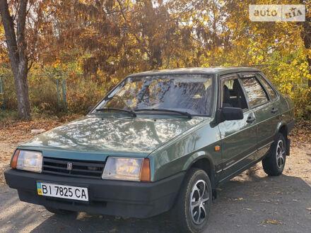 Зеленый ВАЗ 21099, объемом двигателя 1.6 л и пробегом 86 тыс. км за 3200 $, фото 1 на Automoto.ua