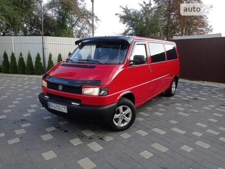 Червоний Фольксваген T4 (Transporter) пасс., об'ємом двигуна 2.5 л та пробігом 485 тис. км за 7999 $, фото 1 на Automoto.ua