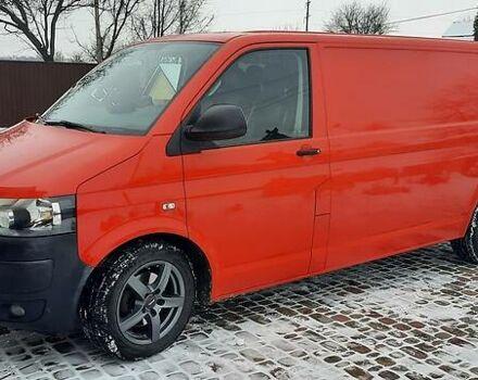 Красный Фольксваген Т6 (Транспортер) груз., объемом двигателя 2 л и пробегом 230 тыс. км за 15950 $, фото 1 на Automoto.ua