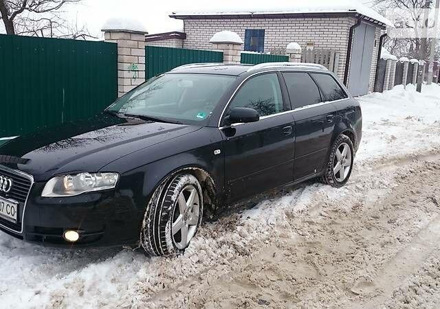 Чорний Ауді A4, об'ємом двигуна 2 л та пробігом 215 тис. км за 11800 $, фото 1 на Automoto.ua