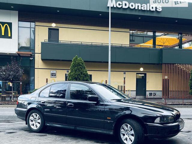 Черный БМВ 520, объемом двигателя 2 л и пробегом 398 тыс. км за 6000 $, фото 1 на Automoto.ua