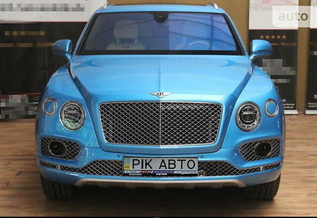 Синий Бентли Бентайга, объемом двигателя 4 л и пробегом 22 тыс. км за 233500 $, фото 1 на Automoto.ua