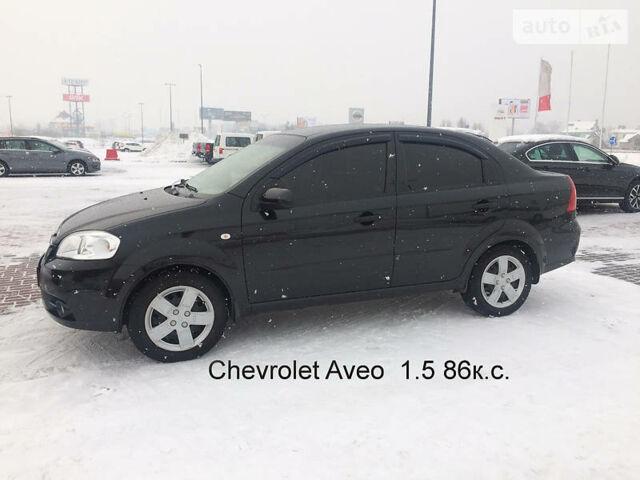 Черный Шевроле Авео, объемом двигателя 1.5 л и пробегом 47 тыс. км за 6473 $, фото 1 на Automoto.ua