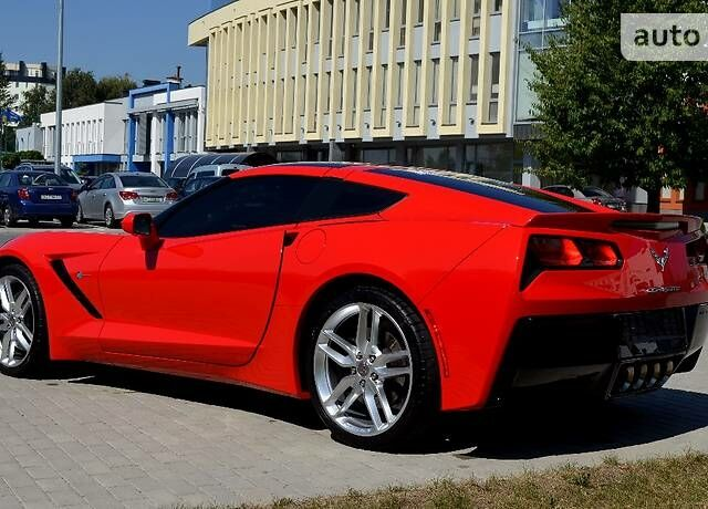 Красный Шевроле Корвет, объемом двигателя 6.2 л и пробегом 11 тыс. км за 85000 $, фото 1 на Automoto.ua