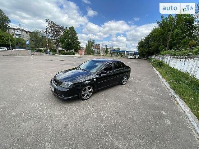Черный Шевроле Лачетти, объемом двигателя 1.8 л и пробегом 219 тыс. км за 5700 $, фото 1 на Automoto.ua