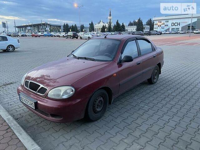 Красный Дэу Ланос, объемом двигателя 1.5 л и пробегом 199 тыс. км за 3500 $, фото 1 на Automoto.ua