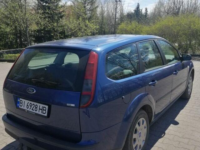 Синий Форд Фокус, объемом двигателя 1.6 л и пробегом 176 тыс. км за 4999 $, фото 1 на Automoto.ua