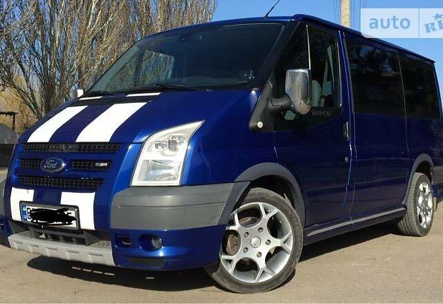 Синий Форд Транзит Ван, объемом двигателя 2.2 л и пробегом 290 тыс. км за 11000 $, фото 1 на Automoto.ua