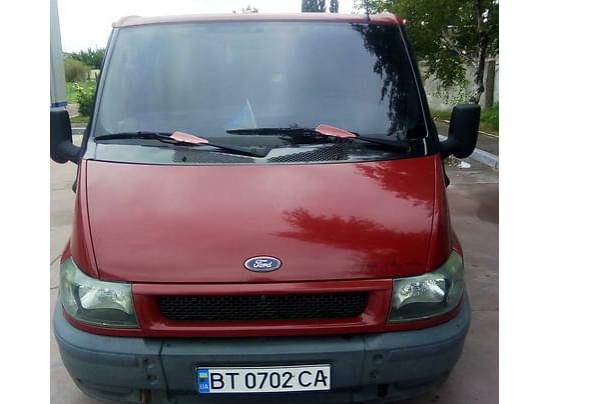 Красный Форд Транзит, объемом двигателя 2 л и пробегом 314 тыс. км за 5400 $, фото 1 на Automoto.ua