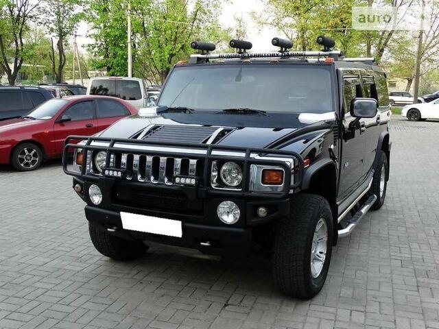 Черный Хаммер Н2, объемом двигателя 6 л и пробегом 185 тыс. км за 29900 $, фото 1 на Automoto.ua