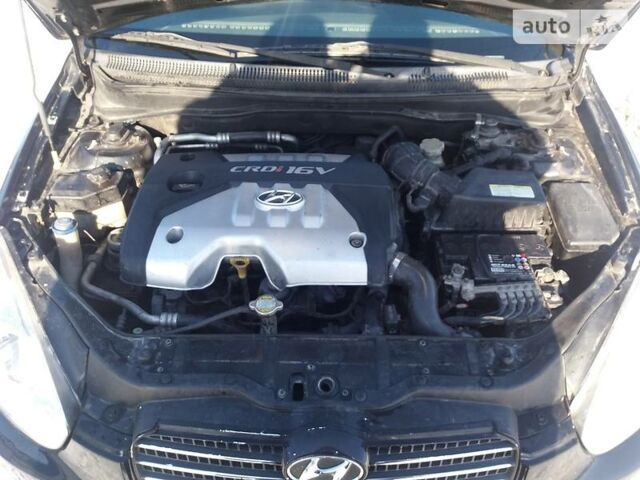 Черный Хендай Акцент, объемом двигателя 1.5 л и пробегом 124 тыс. км за 6500 $, фото 1 на Automoto.ua