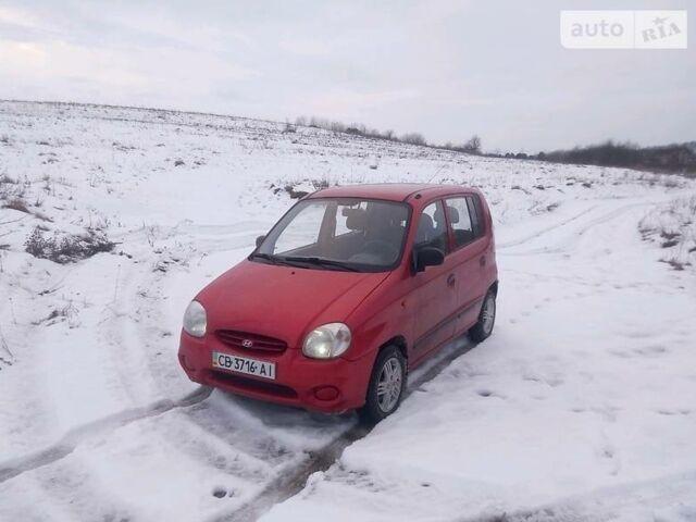 Красный Хендай Атос, объемом двигателя 1 л и пробегом 173 тыс. км за 2850 $, фото 1 на Automoto.ua