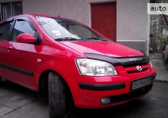 Красный Хендай Гетц, объемом двигателя 1.6 л и пробегом 178 тыс. км за 4500 $, фото 1 на Automoto.ua