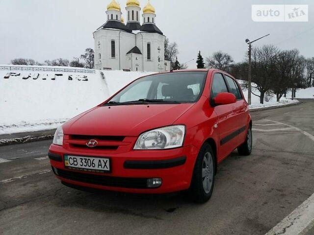 Красный Хендай Гетц, объемом двигателя 1.4 л и пробегом 117 тыс. км за 5000 $, фото 1 на Automoto.ua