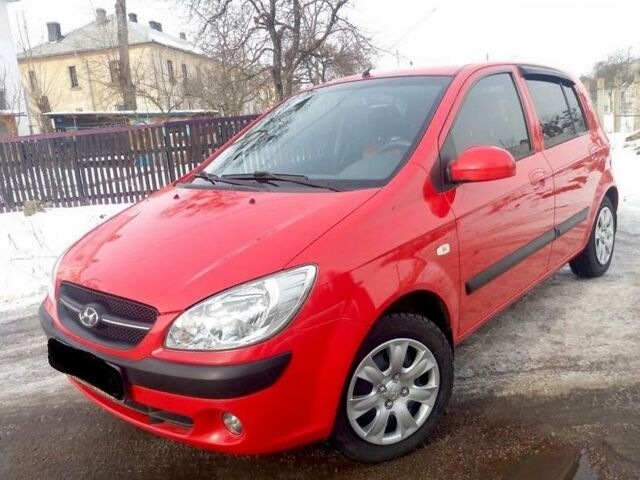 Красный Хендай Гетц, объемом двигателя 1.4 л и пробегом 78 тыс. км за 7700 $, фото 1 на Automoto.ua