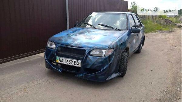 Синий Хендай Пони, объемом двигателя 1.5 л и пробегом 260 тыс. км за 2200 $, фото 1 на Automoto.ua
