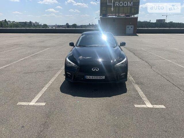 Черный Инфинити Q50, объемом двигателя 3 л и пробегом 48 тыс. км за 25000 $, фото 1 на Automoto.ua
