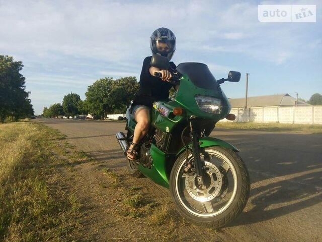 Зеленый Кавасаки ГПЗ, объемом двигателя 0.5 л и пробегом 47 тыс. км за 1600 $, фото 1 на Automoto.ua
