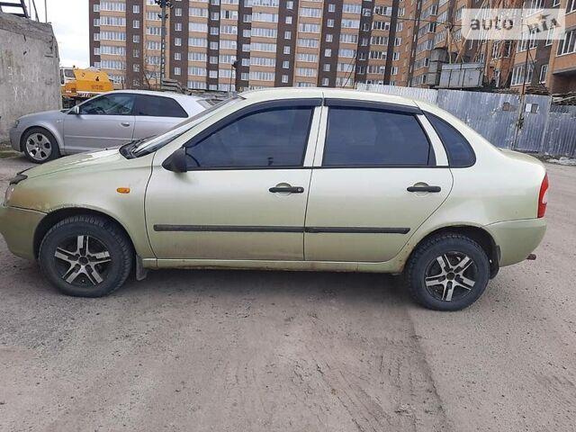Зеленый Лада Калина, объемом двигателя 1.6 л и пробегом 130 тыс. км за 2400 $, фото 1 на Automoto.ua