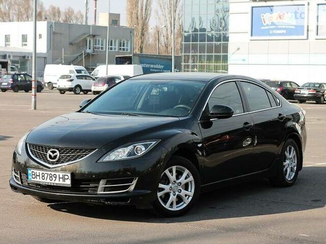 Черный Мазда 6, объемом двигателя 1.8 л и пробегом 200 тыс. км за 8300 $, фото 1 на Automoto.ua
