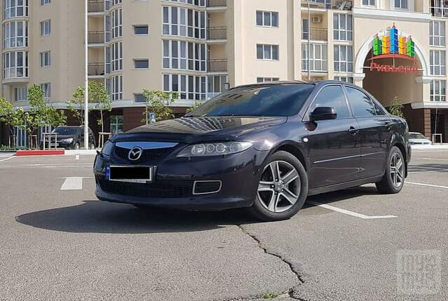 Фиолетовый Мазда 6, объемом двигателя 2 л и пробегом 190 тыс. км за 6100 $, фото 1 на Automoto.ua