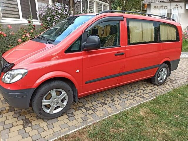 Красный Мерседес Вито, объемом двигателя 2.2 л и пробегом 227 тыс. км за 11500 $, фото 1 на Automoto.ua