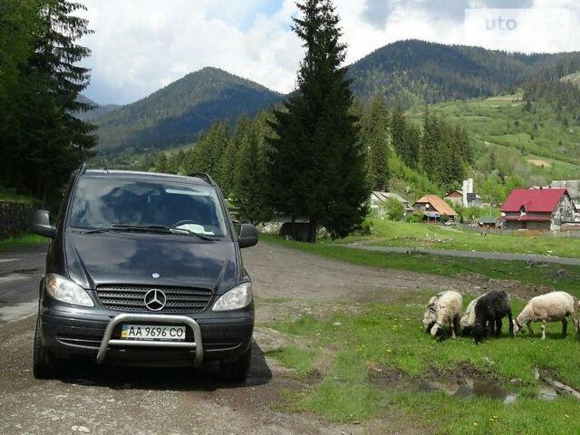 Черный Мерседес Вито пасс., объемом двигателя 2.2 л и пробегом 28 тыс. км за 12000 $, фото 1 на Automoto.ua