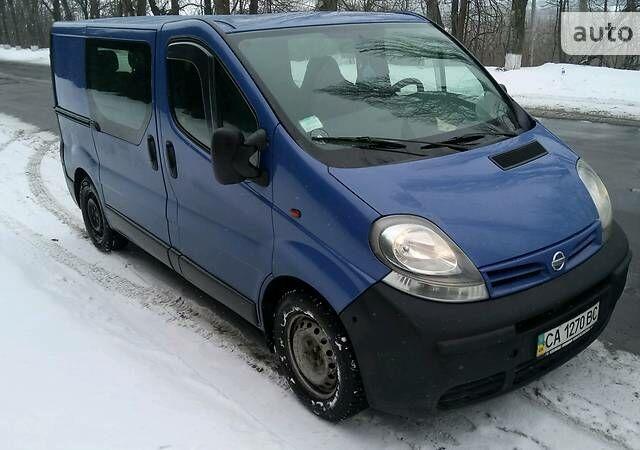 Синій Ніссан Прімастар пас., об'ємом двигуна 1.9 л та пробігом 194 тис. км за 7900 $, фото 1 на Automoto.ua