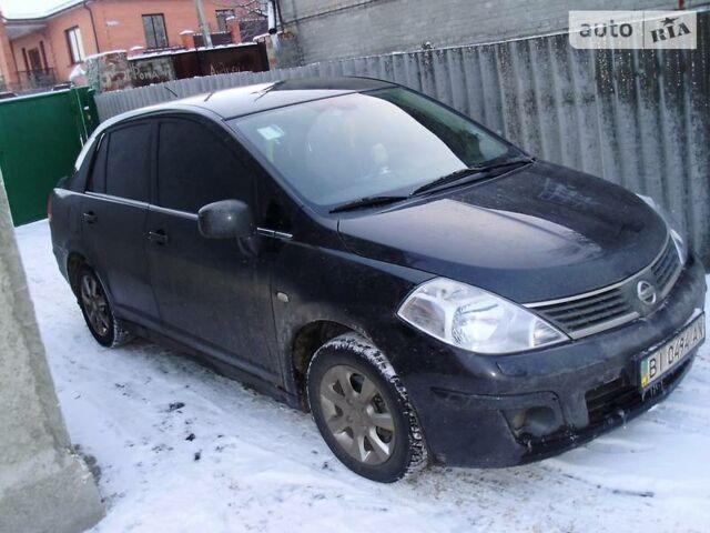 Чорний Ніссан Тііда, об'ємом двигуна 1.6 л та пробігом 115 тис. км за 8500 $, фото 1 на Automoto.ua