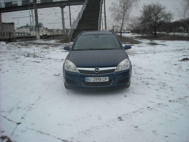 Синий Опель Астра, объемом двигателя 1.9 л и пробегом 327 тыс. км за 4600 $, фото 1 на Automoto.ua