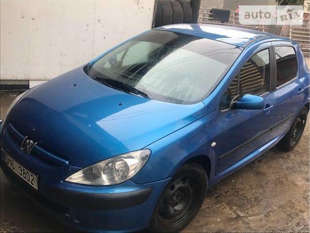 Синій Пежо 307, об'ємом двигуна 1.9 л та пробігом 190 тис. км за 1550 $, фото 1 на Automoto.ua