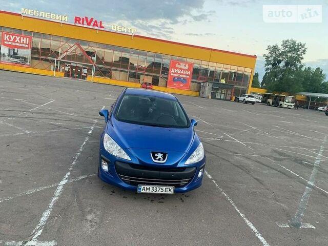 Синий Пежо 308, объемом двигателя 1.6 л и пробегом 141 тыс. км за 6800 $, фото 1 на Automoto.ua