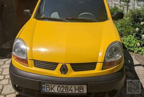 Желтый Рено Кенгу, объемом двигателя 1.5 л и пробегом 250 тыс. км за 3650 $, фото 1 на Automoto.ua