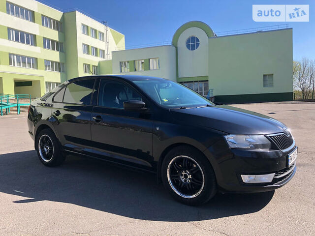 Черный Шкода Рапид, объемом двигателя 1.6 л и пробегом 170 тыс. км за 8500 $, фото 1 на Automoto.ua