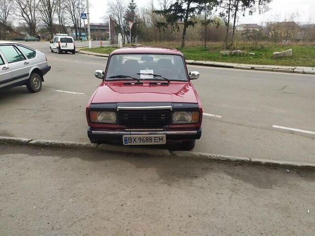 Красный ВАЗ 2107, объемом двигателя 1.5 л и пробегом 90 тыс. км за 1500 $, фото 1 на Automoto.ua