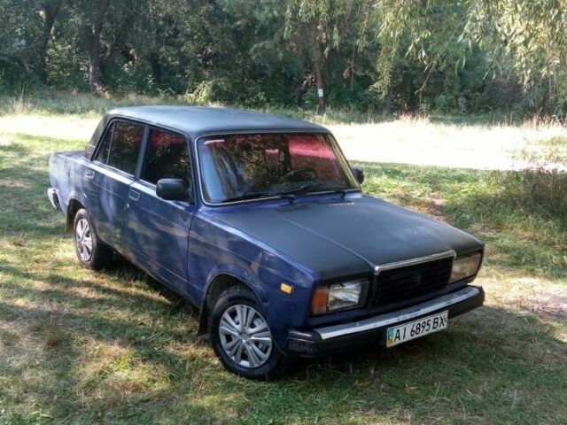 Синий ВАЗ 2107, объемом двигателя 15 л и пробегом 40 тыс. км за 1500 $, фото 1 на Automoto.ua
