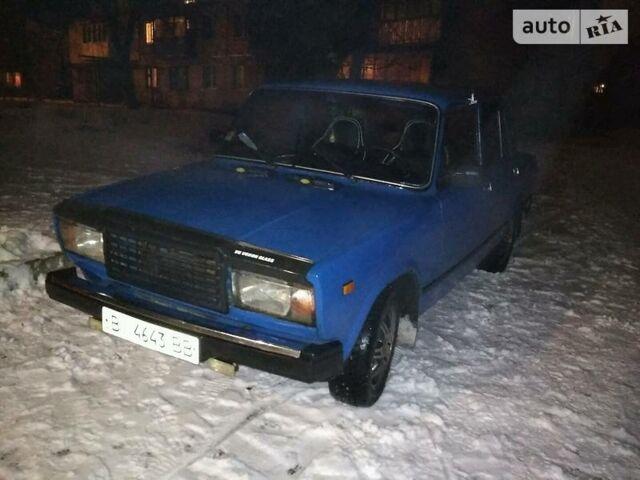 Синий ВАЗ 2107, объемом двигателя 1.5 л и пробегом 11 тыс. км за 1000 $, фото 1 на Automoto.ua