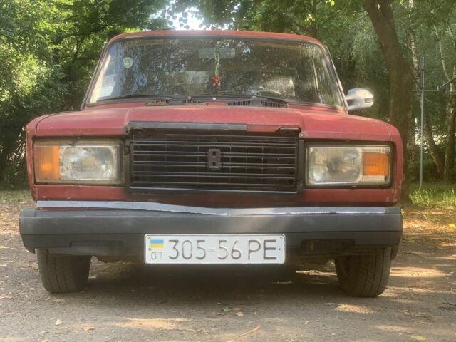 Вишнёвый ВАЗ 2107, объемом двигателя 1.3 л и пробегом 1 тыс. км за 458 $, фото 1 на Automoto.ua