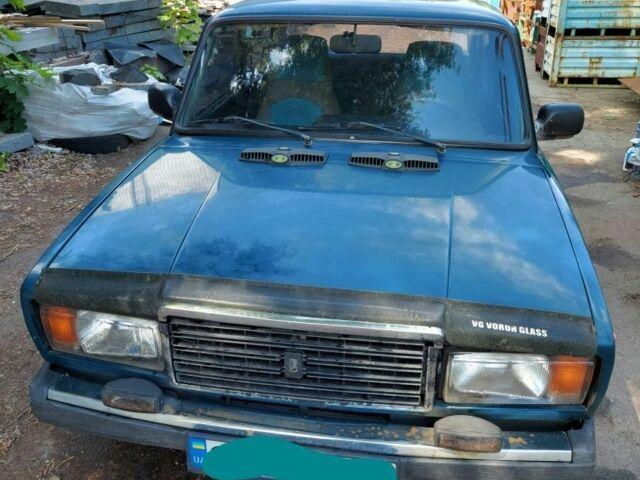 Зеленый ВАЗ 2107, объемом двигателя 15 л и пробегом 165 тыс. км за 1250 $, фото 1 на Automoto.ua