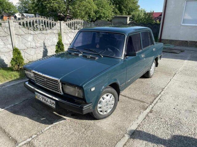 Зеленый ВАЗ 2107, объемом двигателя 1.6 л и пробегом 109 тыс. км за 1200 $, фото 1 на Automoto.ua