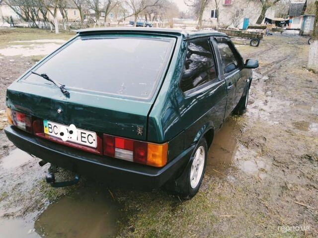 Зеленый ВАЗ 2108, объемом двигателя 13 л и пробегом 220 тыс. км за 1450 $, фото 1 на Automoto.ua