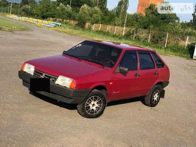 Красный ВАЗ 2109, объемом двигателя 1.5 л и пробегом 133 тыс. км за 1800 $, фото 1 на Automoto.ua
