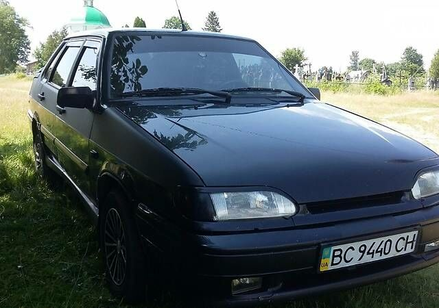 Черный ВАЗ 2115, объемом двигателя 1.6 л и пробегом 130 тыс. км за 3800 $, фото 1 на Automoto.ua